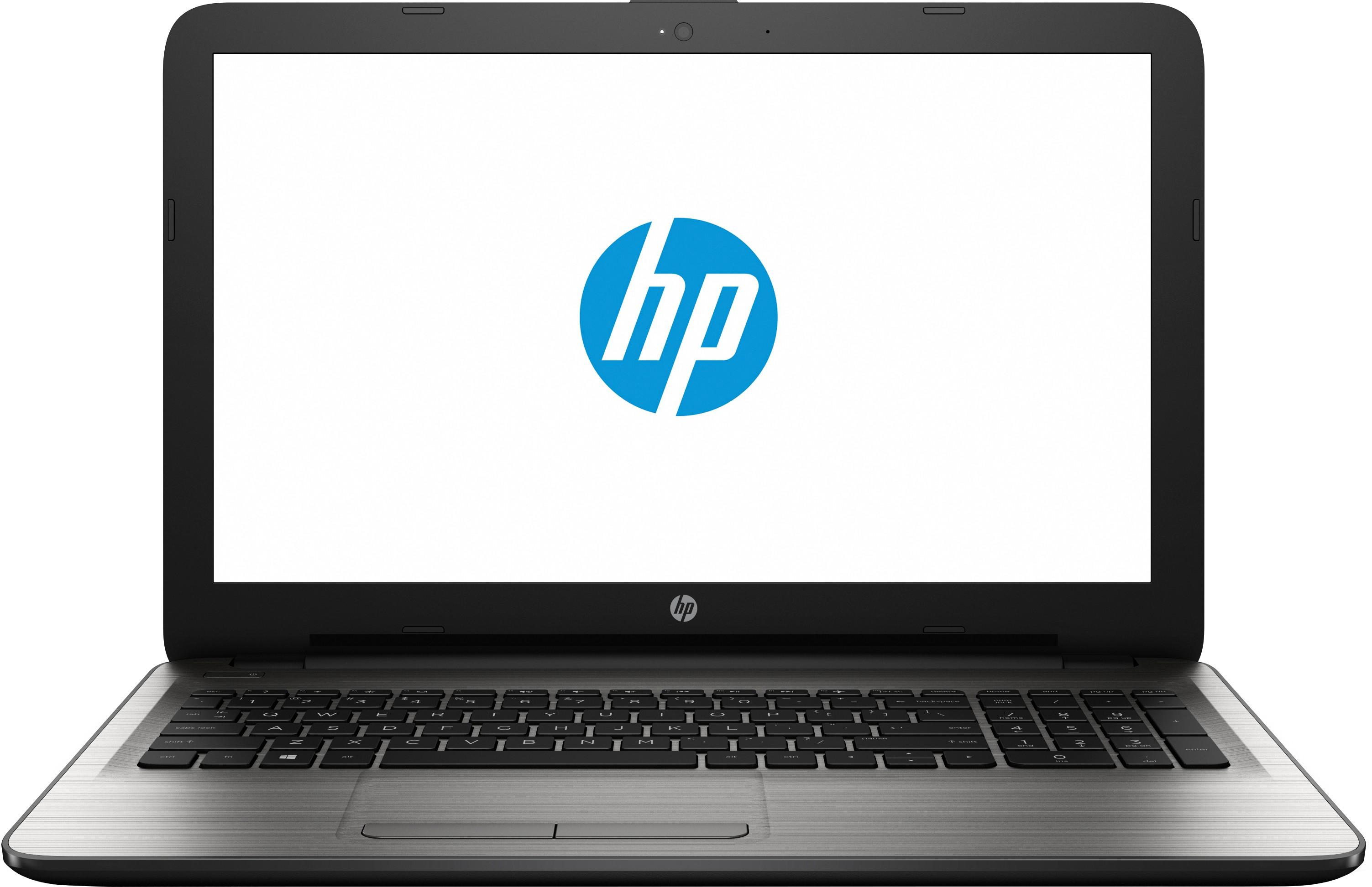 HP APU Quad Core E2 6th Gen - (4 GB/500 GB HDD/DOS) 15-bg003AU Notebook(15.6 inch, Turbo SIlver, 2.19 kg)   Laptop  (HP)