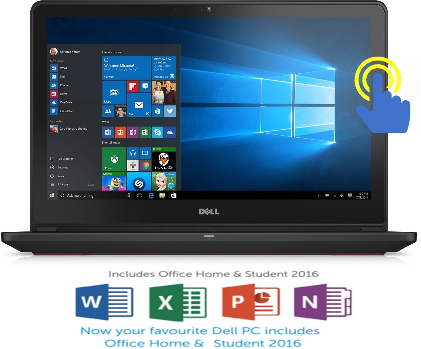 View Dell Inspiron 7000 Core i7 6th Gen - (16 GB/1 TB HDD/128 GB SSD/Windows 10 Home/4 GB Graphics) 7559 Notebook(15.6 inch, Black, 2.57 kg) Laptop