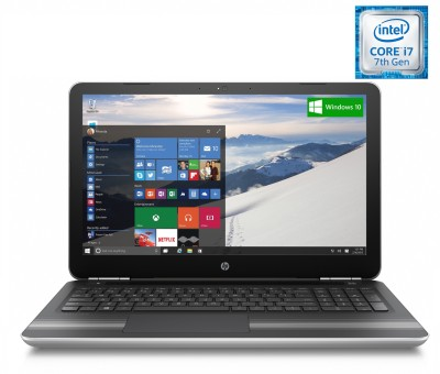 HP Core i7 7th Gen - (8 GB/1 TB HDD/Windows 10 Home/4 GB Graphics) Y4F81PA 15-au118TX Notebook(15.6 inch, Natural SIlver, 2.03 kg)