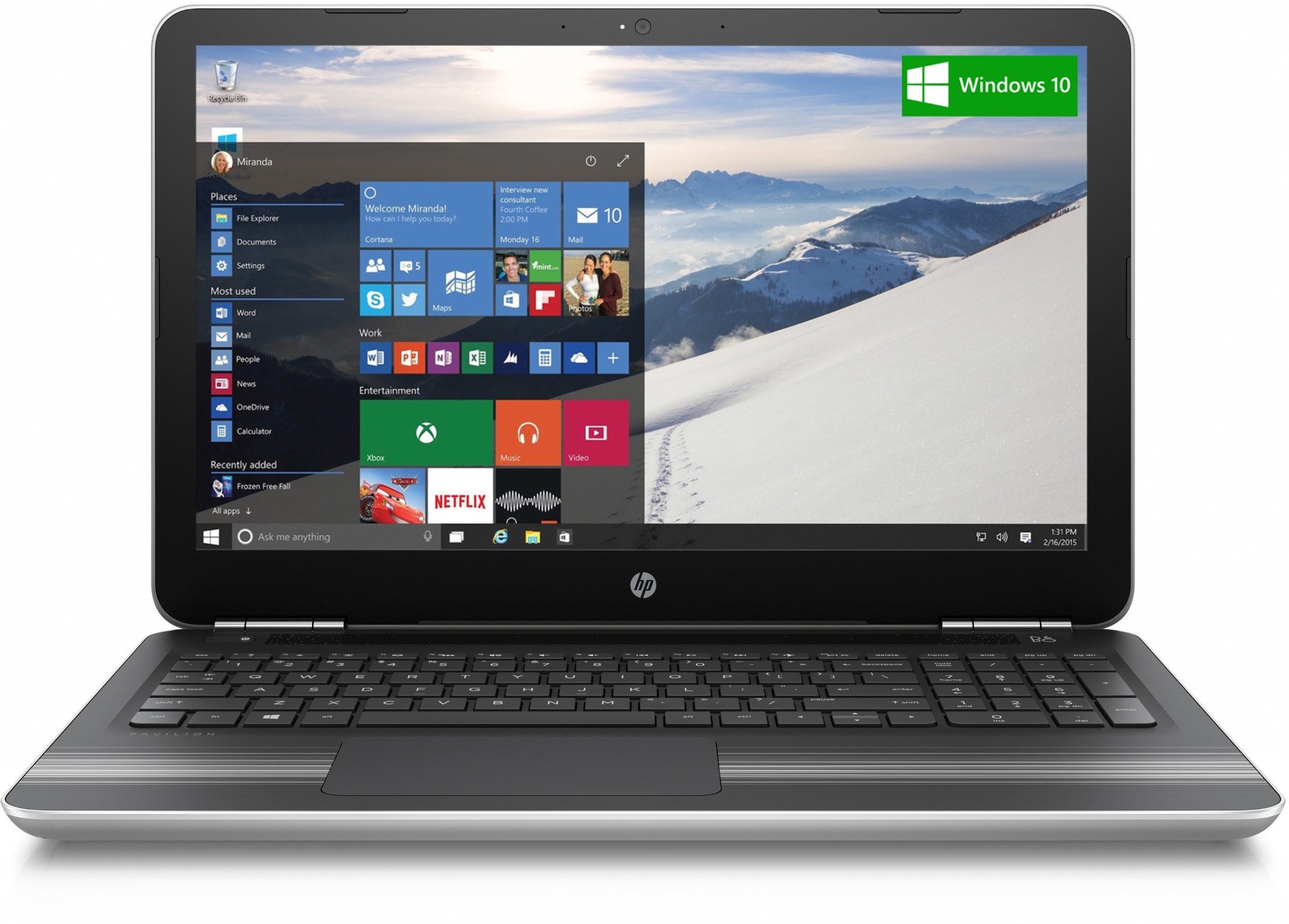 View HP Core i7 7th Gen - (8 GB/1 TB HDD/Windows 10 Home/4 GB Graphics) 15-au118TX Notebook(15.6 inch, Natural SIlver, 2.03 kg) Laptop