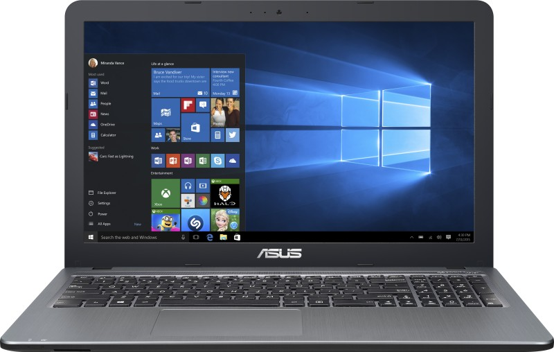Asus  Notebook  Intel Core i3 4 GB RAM Windows 10 Home