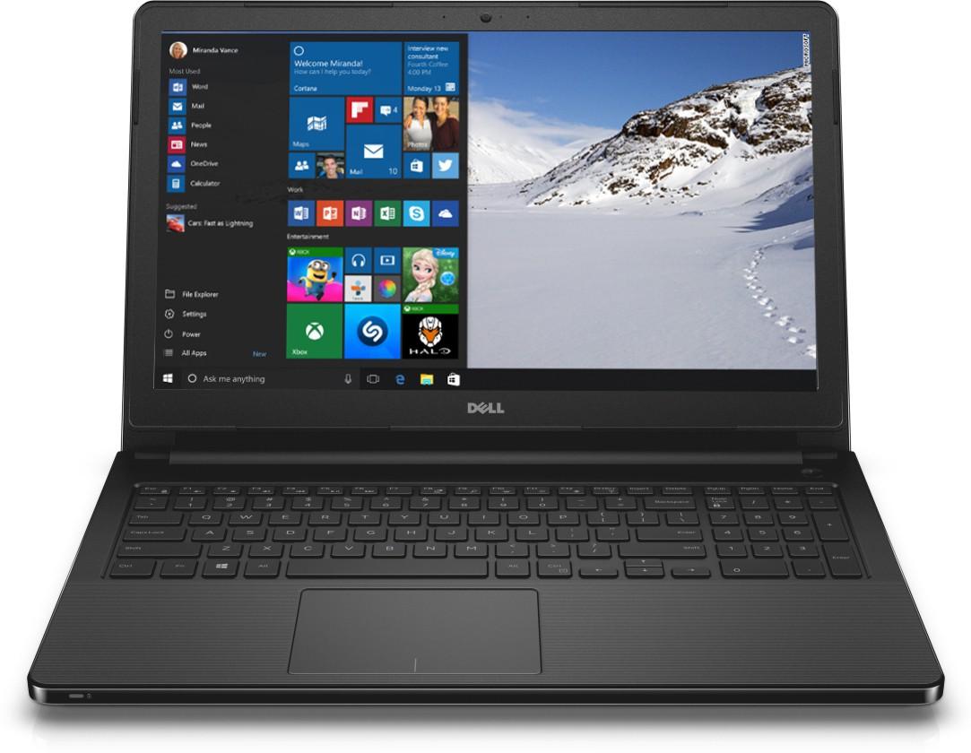 View Dell 3000 APU Quad Core E2 6th Gen - (4 GB/500 GB HDD/Windows 10 Home) 3555 Notebook(15.6 inch, Black) Laptop
