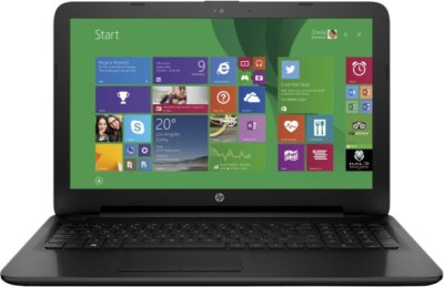 HP Celeron Dual Core - (2 GB/500 GB HDD/Windows 8 Pro) M9V72PA 15-ac054TU Notebook(15.6 inch, Jack Black Color With Textured Diamond Pattern, 2.14 kg)