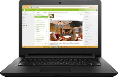 Lenovo Ideapad 100 IP 110-14IBR Pentium Quad Core - (4 GB/500 GB HDD/Free DOS) Notebook 80T6003WIH (14 inch, Black, 1.6 kg)
