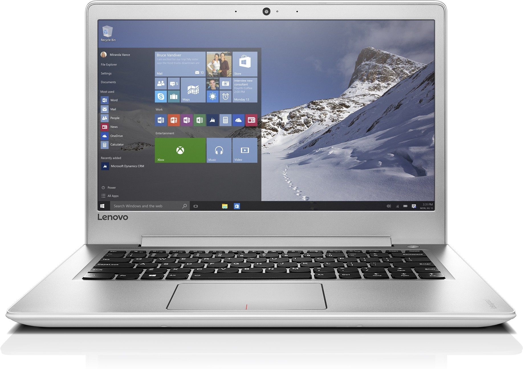 View Lenovo Core i5 7th Gen - (4 GB/1 TB HDD/Windows 10 Home/2 GB Graphics) 80UV006MIH Ideapad 510s Notebook(14 inch, Silver, 1.7 kg) Laptop