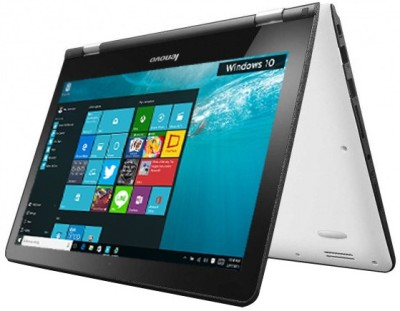 Lenovo 300 2-in-1 300-11IBR Pentium Quad Core (6th Gen) - (4 GB/500 GB HDD/8 GB SSD/Windows 10) 2 in 1 Laptop 80M1003WIN (11.6 inch, White, 1.4 kg)