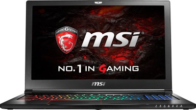 MSI Core i7 6th Gen - (16 GB/1 TB HDD/256 GB SSD/Windows 10/6 GB Graphics) GS63VR6RF GS63VR Notebook(15.6 inch, Black)