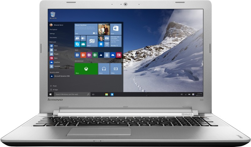 Lenovo Core i5 6th Gen - (8 GB/1 TB HDD/Windows 10 Home/4 GB Graphics) 80NT0132IN IP 500 Notebook(15.6 inch, Black, 2.3 kg)