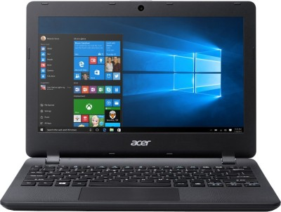 Acer ES 11 Celeron Dual Core 4th Gen - (2 GB/500 GB HDD/Windows 10 Home) NX.MYKSI.021 ES1-131 Notebook(11.6 inch, Black, 1.25 kg)
