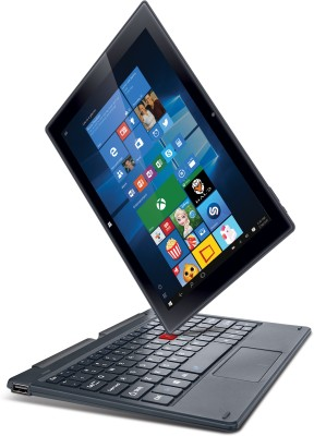 iBall Atom Quad Core - (2 GB/32 GB EMMC Storage/Windows 10 Home) WQ191C 2 in 1 Laptop(10.1 inch, Metallic SIlver)