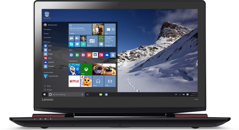 Lenovo Core i7 6th Gen - (16 GB/1 TB HDD/128 GB SSD/Windows 10 Home/4 GB Graphics) 80Q000E3IH Y700 Notebook(17.3 inch, Black, 3.5 kg)