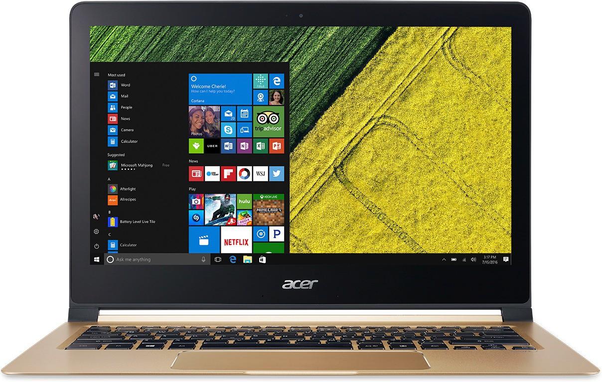 Acer Swift 7 Core i5 7th Gen - (8 GB/256 GB SSD/Windows 10 Home) SF713-51 Ultrabook(13.3 inch, Black, 1.125 kg)   Laptop  (Acer)