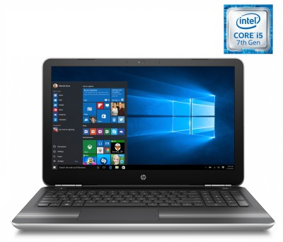 HP Core i5 7th Gen - (4 GB/1 TB HDD/Windows 10 Home/4 GB Graphics) Y4F79PA 15-au116TX Notebook(15.6 inch, Natural SIlver, 2.03 kg)