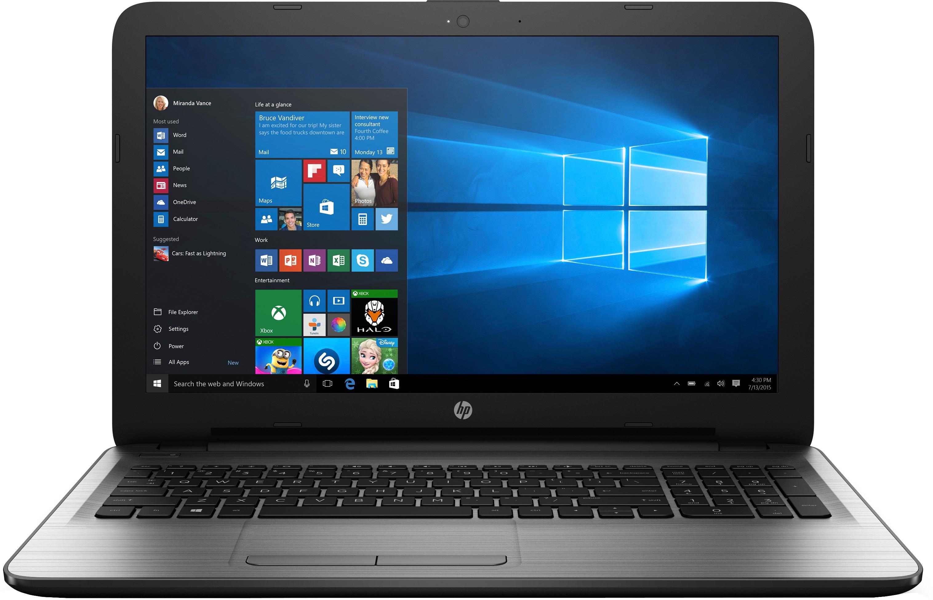 View HP Core i3 5th Gen - (4 GB/1 TB HDD/Windows 10 Home) 15-ay020TU Notebook(15.6 inch, Turbo SIlver, 2.19 kg) Laptop