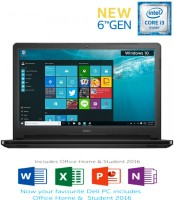 Dell Core i3 6th Gen - (4 GB 1 TB HDD Windows 10 Home) Z566502SIN9 5559 Notebook(15.6 inch Black 2.36 kg)