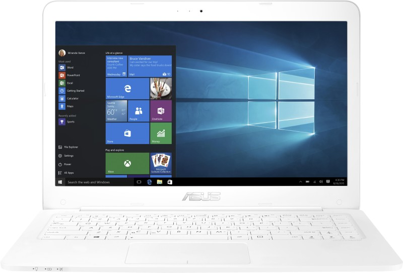 Asus EeeBook Celeron Dual Core - (2 GB/32 GB HDD/32 GB SSD/Windows 10) 90NB0B62-M00210 E402SA-WX014T Notebook EeeBook
