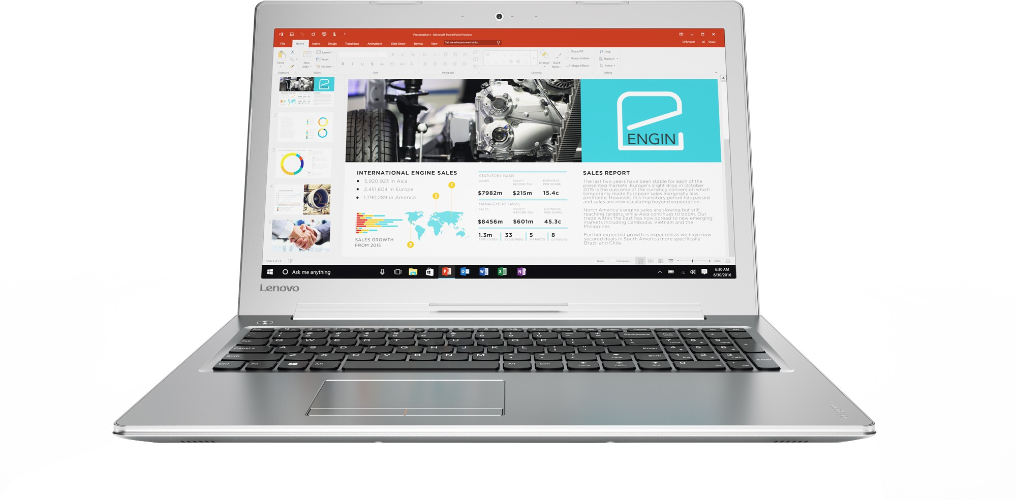 Lenovo Core i7 7th Gen - (8 GB/2 TB HDD/Windows 10 Home/4 GB Graphics) 510 Notebook(15.6 inch, SIlver, 2.2 kg)   Laptop  (Lenovo)