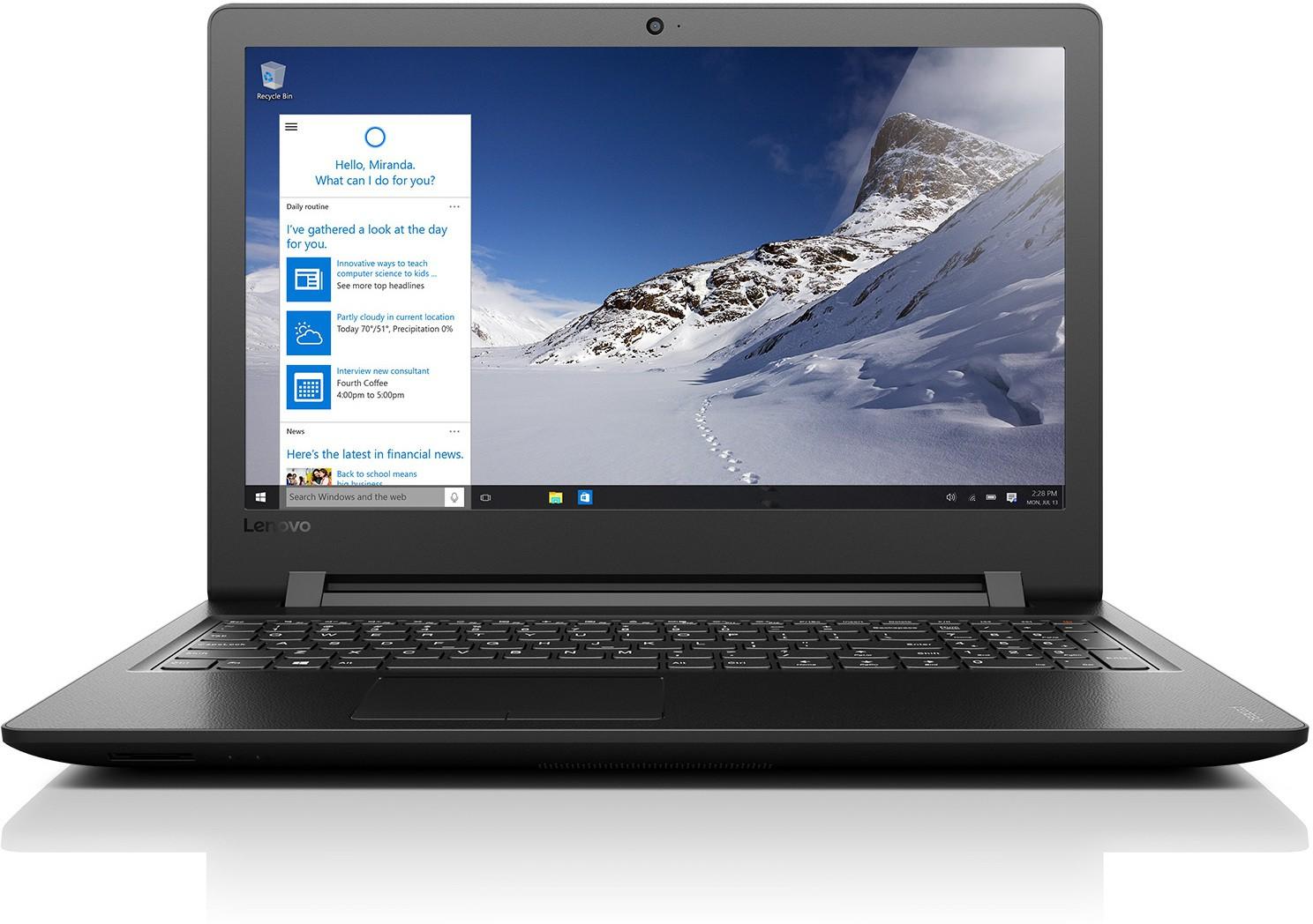 View Lenovo Core i3 6th Gen - (4 GB/1 TB HDD/Windows 10 Home/2 GB Graphics) 80UD0146IH Ideapad 110 Notebook(15.6 inch, Black, 2.2 kg) Laptop
