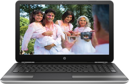 View HP Core i5 7th Gen - (8 GB/1 TB HDD/Windows 10 Home/2 GB Graphics) 15-AU620TX Notebook(15.6 inch, Natural SIlver, 2.03 kg) Laptop