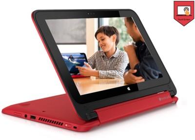 HP Pavalion X360 11-N032TU 2 in 1 Laptop (Pentium Quad Core (4th Gen)/4GB/500GB/Windows8.1/Touch) (J8B99PA)(11.49 inch, Brilliant Red & SIlver, 1.4 kg)