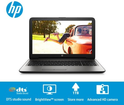 HP Core i3 - (4 GB/1 TB HDD/DOS) T0X61PA 15-AC184TU Notebook(15.6 inch, Jack Black, 2.2 kg)