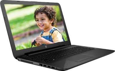 HP Pentium Dual Core 5th Gen - (4 GB/1 TB HDD/Windows 10 Home) P6M78PA 15-ac173TU Notebook(15.6 inch, Jack Black Color With Textured Diamond Pattern)