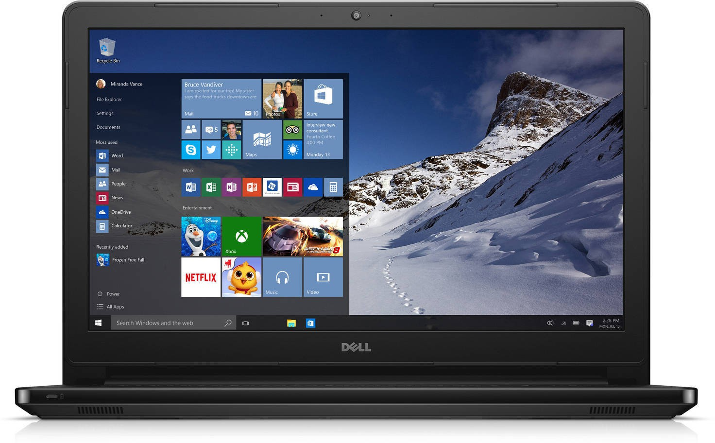 View Dell Inspiron Core i3 5th Gen - (4 GB/500 GB HDD/Windows 10 Home) 5558 Notebook(15.6 inch, Black) Laptop