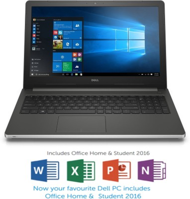 Dell Inspiron 5000 Core i5 6th Gen - (8 GB/1 TB HDD/Windows 10 Home/4 GB Graphics) Z566110SIN9SM 5559 Notebook(15.6 inch, SIlver, 2.4 kg)