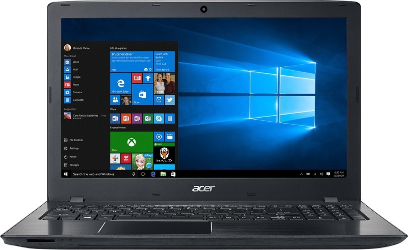 Acer Aspire E APU Quad Core A10 7th Gen - (4 GB/1 TB HDD/Windows 10) NX.GESSI.003 E5-553-T4PT Notebook(15.6 inch, Obsidian Black, 2.39 kg)