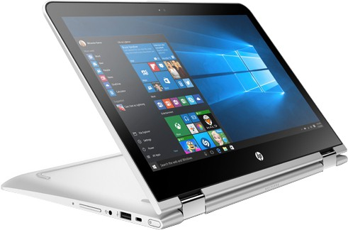 HP Core i3 7th Gen - (4 GB/1 TB HDD/Windows 10 Home) 13-U131TU X360 2 in 1 Laptop(13.3 inch, Natural SIlver, 1.66 kg) image