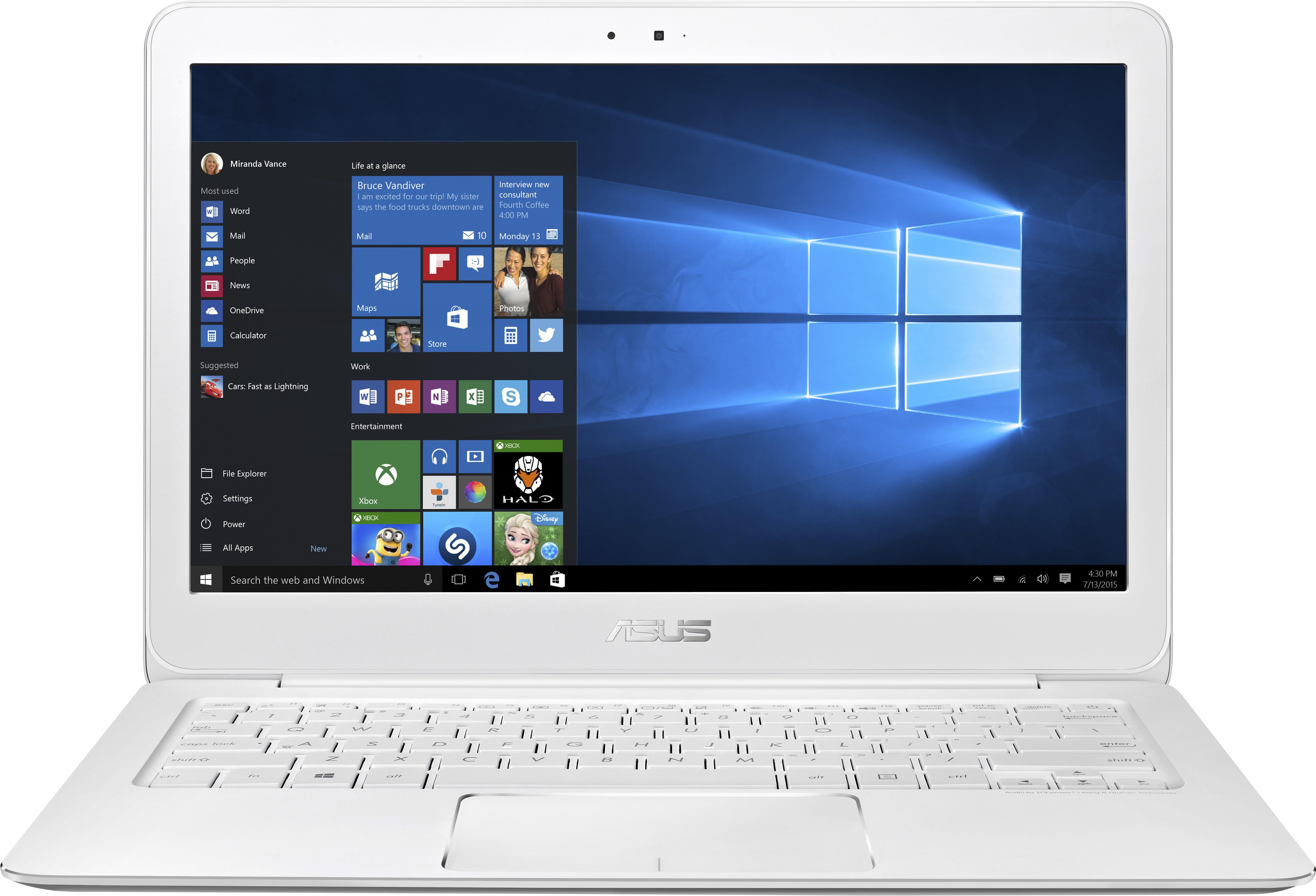 Asus Zenbook Core M 5th Gen - (4 GB/256 GB SSD/Windows 10 Home) 90NB06X2-M12250 UX305FA-FC123T Ultrabook(13.3 inch, Ceramic White, 1.2 kg)