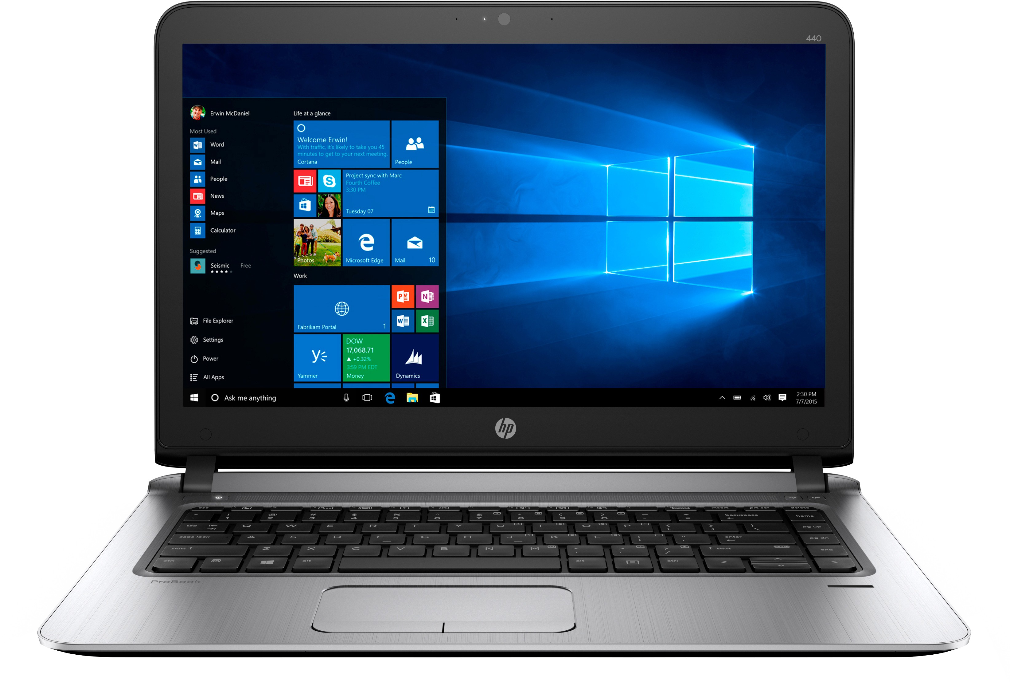 HP ProBook Core i3 7th Gen - (4 GB/500 GB HDD/Windows 10 Pro) 440 Notebook(14 inch, SIlver)   Laptop  (HP)