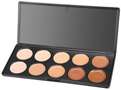 ACEVIVI Professional 10 Color Cream Concealer Foundation Makeup Palette Set Concealer(Professional 10)