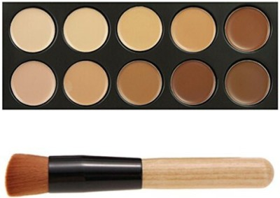 FiveBull 10 Colour Cosmetics Cream Complete Coverage Concealers Palette Makeup Kit Concealer