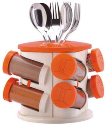 Trueware Rack with 8 Piece Cheese Shaker & Spice Shaker(Plastic)