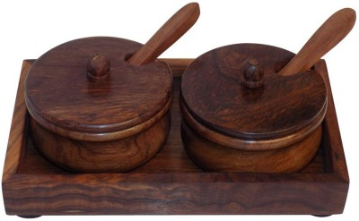 Crafts,man Wooden Dining Table Rectangular 5 Piece Condiment Set