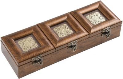 Aradhana Arts Gold Lid Box 1 Piece Condiment Set