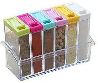 Shrih Kitchen 6 Pcs Of Seasoning Pepper Caster Salt 6 Piece Condiment Set(Plastic) at flipkart