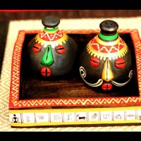 Unravel India 3 Piece Condiment Set(Wooden, Earthenware) best price on Flipkart @ Rs. 749