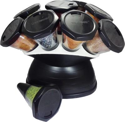 Trueware Spice Jar 360 degree Revolving 10 Piece Cheese Shaker & Spice Shaker
