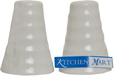 Kitchen Mart Porcelain Pyramid 2 Piece Salt & Pepper Set