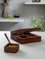 Unravel India 4 Piece Condiment Set(Wooden) best price on Flipkart @ Rs. 799