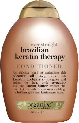 Organix Ever Straight Brazilian Keratin Therapy Conditioner(385 ml)