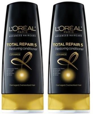 L ,Oreal Paris Total Repair 5 Restoring Conditioner (Pack of 2)