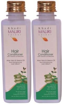 Khadimauri Herbal Hair Conditioner Premium Pack of 2 Ayurvedic & Natural 250 ml each