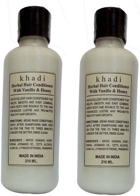 Khadi Herbal Vanila & Honey Hair Conditioner (Twin pack )(420 ml)
