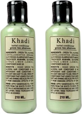 Khadi Herbal Green Tea Alovera Hair Conditioner(420 ml)