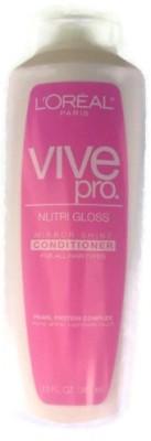 L ,Oreal Paris Vive Pro Nutri Gloss Conditioner, Mirror Shine