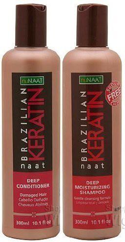nuNAAT Brazilian Keratin naat Set (Deep Conditioner and Deep Moisturizing Shampoo)(300 ml)