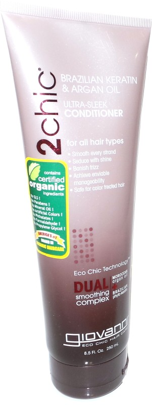 Giovanni 2chic Brazilian Keratin & Argan Oil Ultra-sleek Conditioner(250 ml)